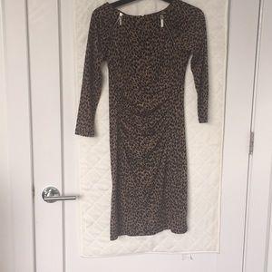 MICHAEL Michael Kors cheetah jersey dress